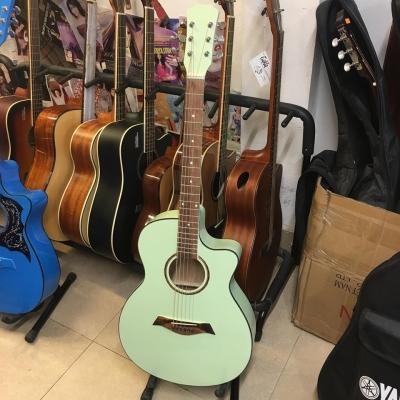 Đàn Guitar Acoustic Màu Xanh Ngọc