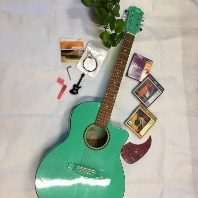 Đàn Guitar AC120 màu xanh lá cây