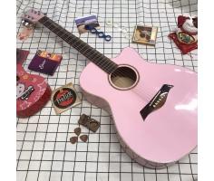 Đàn Guitar AC120 màu hồng phấn