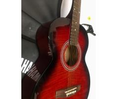 Đàn Acoustic màu đỏ loang