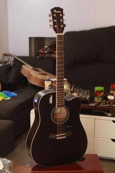 Guitar acoustic Rosen R135 đen - Chính Hãng